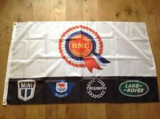 BMC Mini Morris Triumph Land Rover Austin Wolesley workshop flag banner