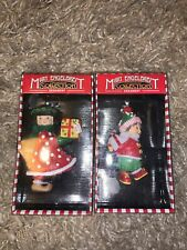 Pair Of Mary Engelbreit Ornaments Boy Girl Christnas