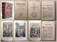 Pontificis Maximi Missale Romanum 1872 Religion Kirche Messbuch Lithurgie xz