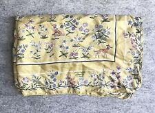 """Liberty of London Silk Scarf, Floral w Bunnies & Dogs : ), 24"""" Square, Exc Cond"""