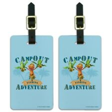 Campout Fishing Adventure Dinosaur Train Luggage ID Tags Cards Set of 2