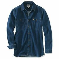 Carhartt Denim LONG-SLEEVE T-Shirt | Hemd |  | Jeanshemd | 103854 | Relaxed Fit