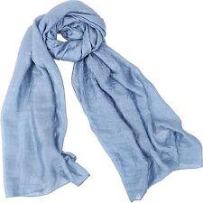 Sangbo shawl long scarf for women solid scarf - Cowboy Blue