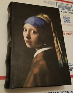 Ver Meer Secret Storage Book Box Stash Box  Faux Leather Girl With Pearl Earring