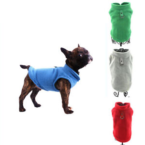 Pet Dog Fleece Harness Vest Jumper Sweater Coat for Small Medium Dogs Jacket