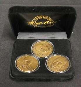 MICHAEL JORDAN HIGHLAND MINT 3 BRONZE COIN MATCHED SET RETIREMENT BULLS T119