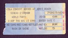 1990 Sinead O'Connor Concert Ticket Stub Jones Beach Ny 8/23/90