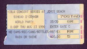 1990 Sinead O'Connor Concert Ticket Stub Jones Beach NY 8/23/90