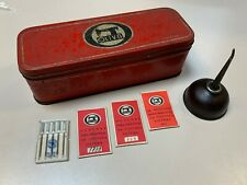 Original Old Oliva Sewing Machine Metal Box for acessories, needles, Oil Tin Can