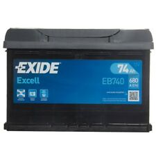 Excell 096 Car Battery 3 Years Warranty 74Ah 680cca 12V Electrical - Exide EB740