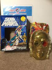 Star Wars Ben Cooper 1977 Costume And Mask C-3PO Child's Sm 5-6