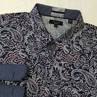 Ted Baker FASHION Long Sleeve Dress Shirt PAISLEY ALL OVER French Cuff 17 1/2