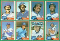1981 TOPPS TRADED CHICAGO CUBS TEAM SET NM/MT  LOADED  BONDS  DURHAM RC