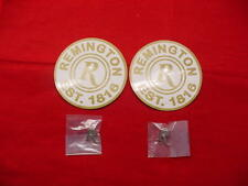 Remington Pinbacks - Pins (2)- Remington Est. 1816 Stickers (2) - New !