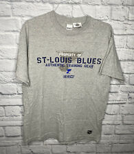 St. Louis Blues CCM T Shirt Vintage Gray Mens Large Preowned Vtg NHL Hockey