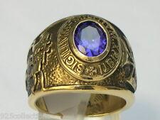 Knights Templar Masonic Mason 9x7 mm 1.80 Ct February Purple CZ Men Ring Size 10