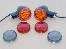 Black Rear LED Turn Signals Lights W/ Brackets For Harley Sportster XL 883 1200