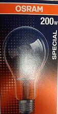 OSRAM/RADIUM SPECIAL CENTRA A CL 200 230V E27/ES 200W Klar 2500 Lm