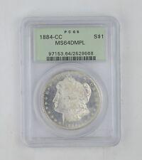 MS64DPML 1884-CC Morgan Silver Dollar - PCGS Graded *0261