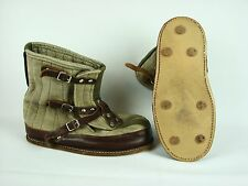 Vintage Swedish Army Snow Overboots Boots Tundra Winter Military Canvas Size 10