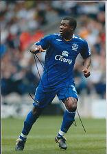 Yakubu AIYEGBENI SIGNED COA Autograph 12x8 Photo AFTAL Everton Authentic