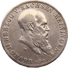N207) J.150 SACHSEN MEININGEN 5 Mark 1901 D Georg II. 1866-1914