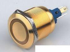 Luxus Schalter vergoldet LED Einbauschalter rastend Gold Druckschalter