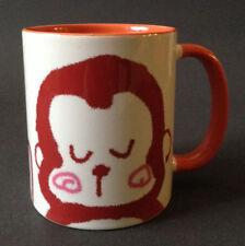 "Japanese 3.75""H Porcelain Sushi Tea Mug Cup Kawaii Happy Monkey, Made in Japan"