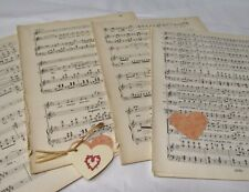 20 sheets Vintage Manuscript Music Paper, Decoupage, Art Projects, Crafting,