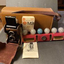 VINTAGE ANSCO REDIFLEX BOX CAMERA WITH CASE, Bulbs, Manual Etc.