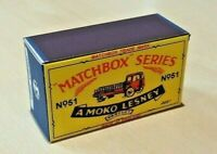 LESNEY MATCHBOX MOKO' NO.51A ALBION CHIEFTAN CUSTOMISED DISPLAY/STORAGE BOX ONLY