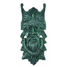 """LARGE 13"""" H Door Knocker Cast Iron NORTHWIND Green Man Face door knocker verdi"""