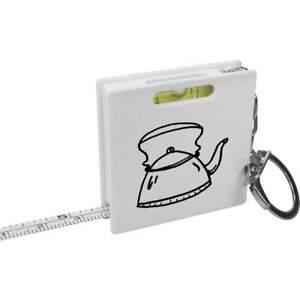 'Kettle' Keyring Tape Measure / Spirit Level Tool (KM00011983)