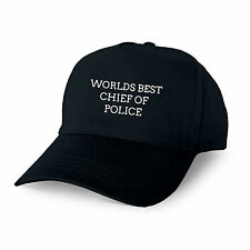WORLDS BEST CHIEF OF POLICE PERSONALISED BASEBALL CAP GIFT DAD GRANDAD