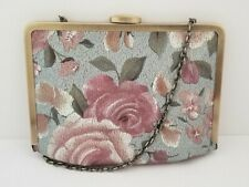 New ListingPatricia Nash Cariati Crackled Rose Garden Leather Clutch Shoulder Purse Bag