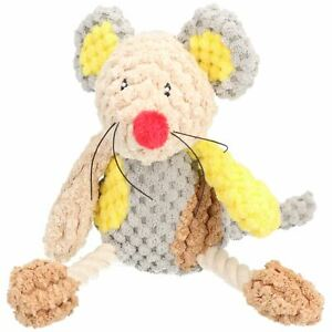 """Molly Mouse Mr Twister Teddy Dog Toy With Squeak 23cm/9"""""""