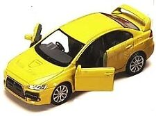 Mitsubishi Lancer Evolution EVO X 1:36 scale Yellow diecast rs gsr mr se sst NEW