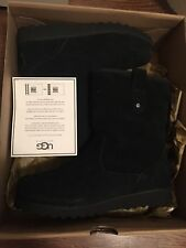 UGG Kids Boys Black Gray US 4 Derick Suede Lace Up Boots 1010269K *NIB*Authentic