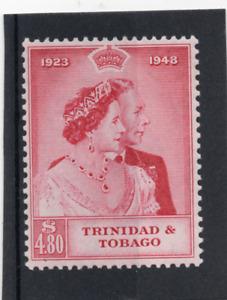 Trinidad & Tobago GV1 1948 Royal Silver Wedding sg 260 HH.Mint