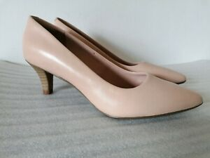 CLARKS LINVALE JERICA WOMENSBLUSH LEATHER KITTEN HEEL COURT SHOES UK SIZE 5