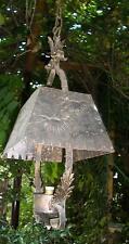 antico lampadario lampione ferro battuto foglie x veranda rustico agriturismo
