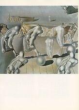 "1976 Vintage SALVADOR DALI ""INVISIBLE SLEEPING WOMAN HORSE LION Color Lithograph"
