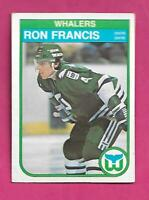 1982-83 OPC # 123 WHALERS RON FRANCIS  ROOKIE EX CARD (INV# D6323)