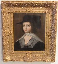 OLD MASTER 17c FRENCH CHARLES BEAUBRUN 1604-1692 PORTRAIT OF WOMAN OIL ON PANEL