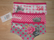 NEW 3 PAIRS LADIES TATTY TEDDY ME TO YOU BRIEFS PANTS KNICKERS SIZE 8 to 10