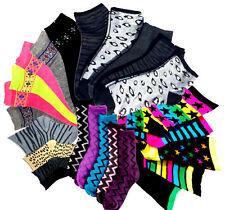 3,6,12 Paar Damen Socken Baumwolle Strümpfe Zebra Leo Sterne Sneaker bunt 35-42