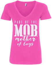 Part of the MOB Mother Of Boys Women's V-Neck T-Shirt Mother's Day