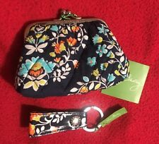 Vera Bradley Kiss Coin Purse and Loop Keychain Chandelier Floral - NWT