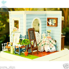 DIY Handcraft Miniature Project Kit Dolls House LED Lights Mary's Summer Bakery