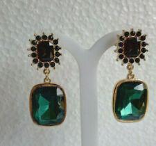 Emerald Green Rectangular Drop Earring